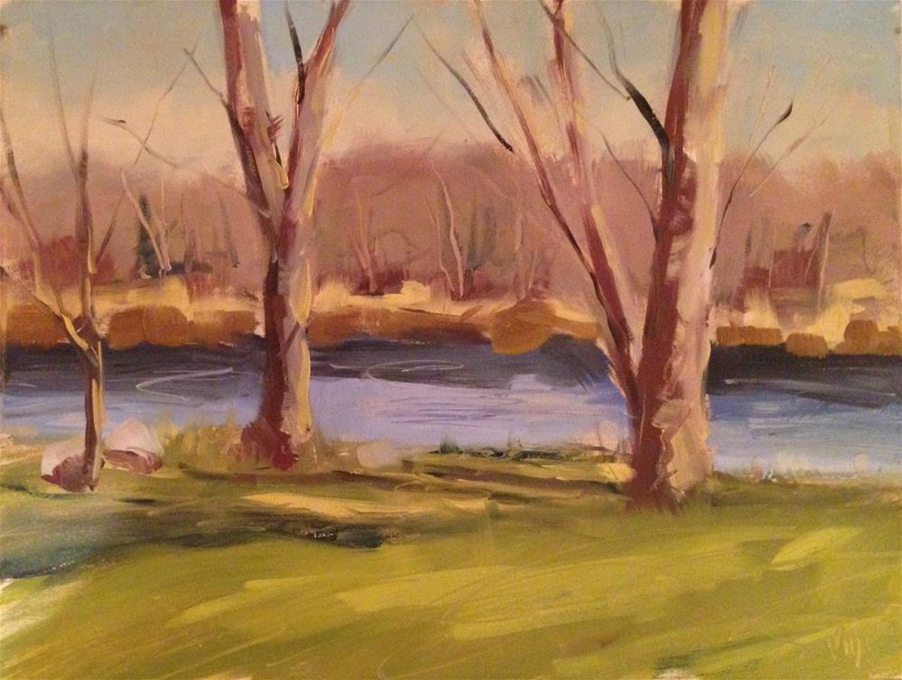 """#58 Spring River"" original fine art by Patty Voje"