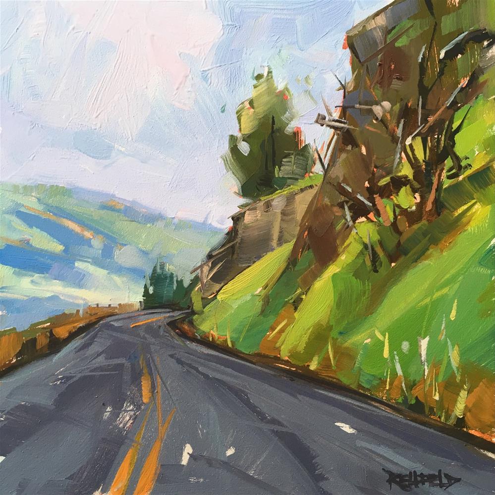 """Spring Green"" original fine art by Cathleen Rehfeld"