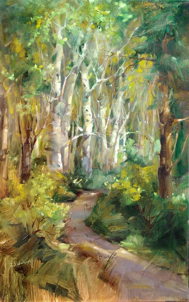 """Birch Tree Trail"" original fine art by Barbara Schilling"