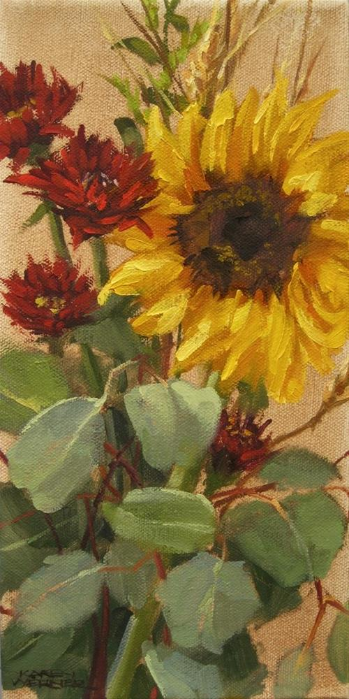 """Sunflower"" original fine art by Karen Werner"