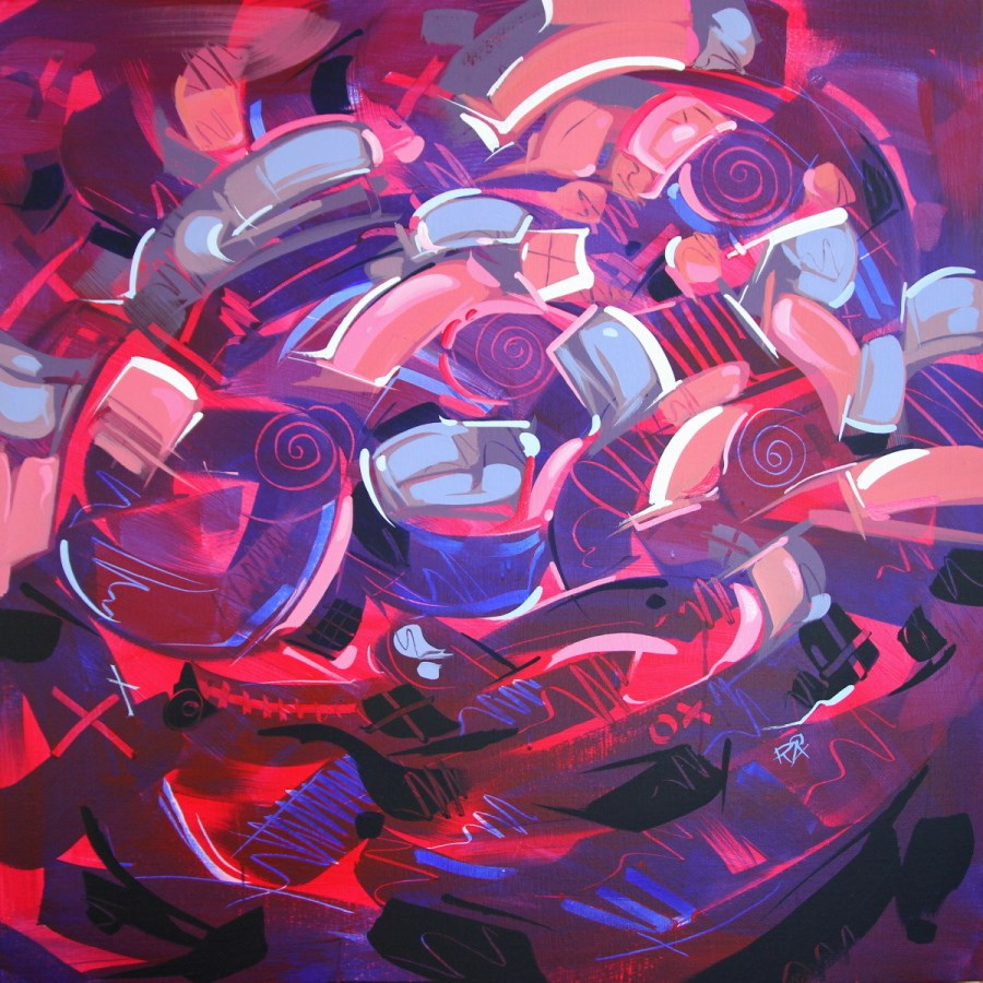 """""""Shapes & Movement 38"""" original fine art by Roger Akesson"""