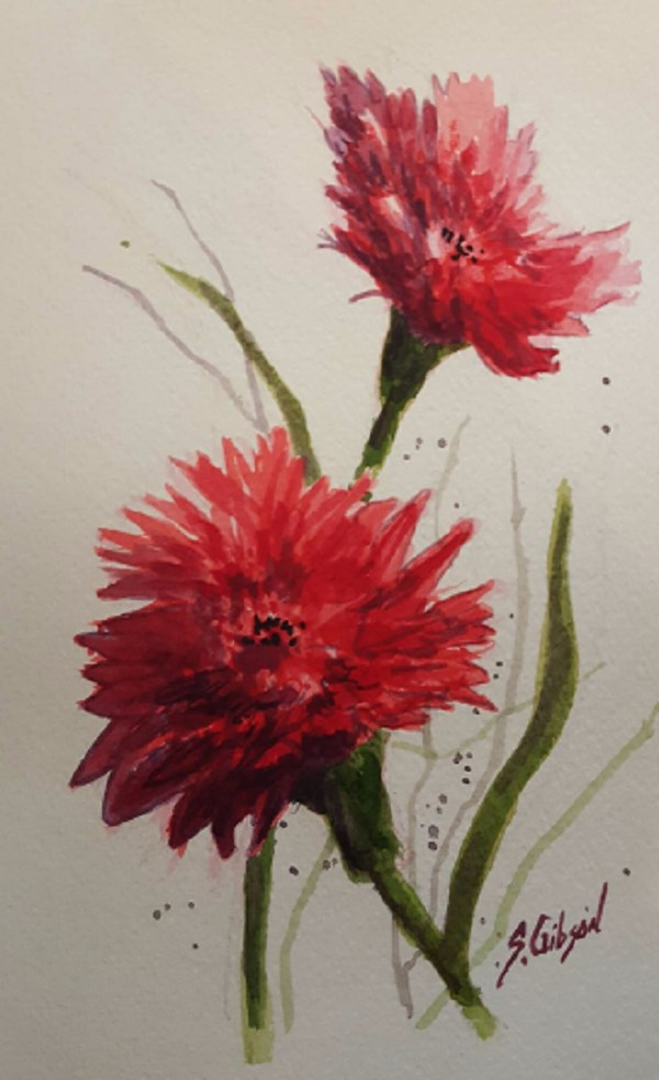 """Red Flower #2"" original fine art by Steve Gibson"