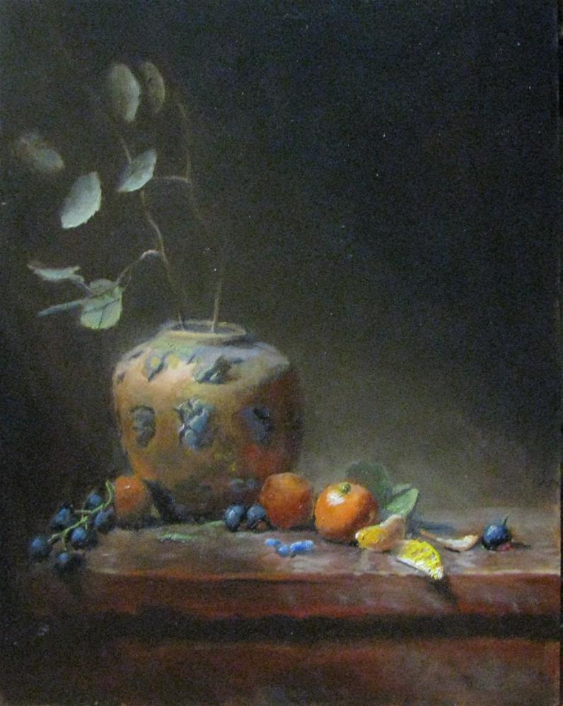 """""""orange slices"""" original fine art by tom dawson"""