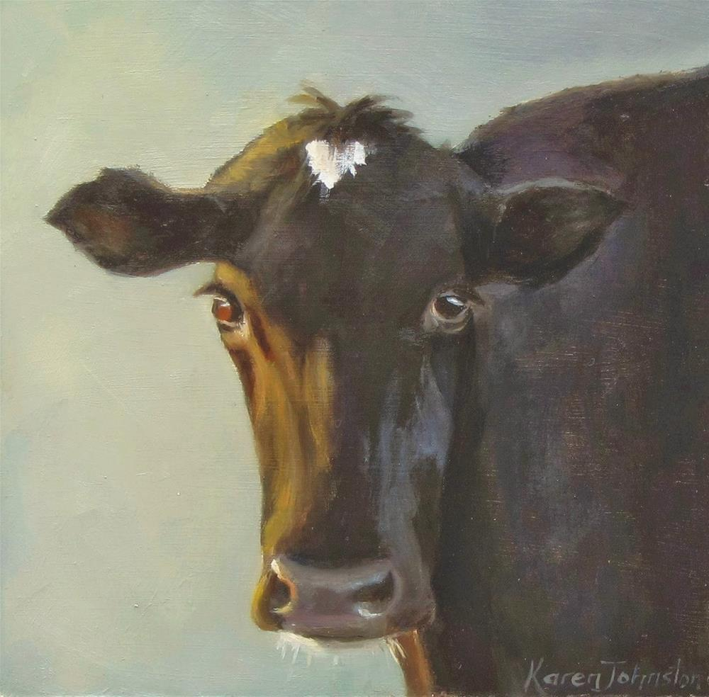 """No Bull"" original fine art by Karen Johnston"