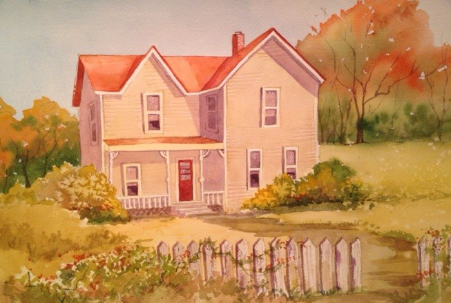 """Old Wooden House"" original fine art by Margie Whittington"