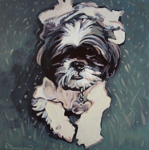 """Sam"" original fine art by Rachel Thompson"
