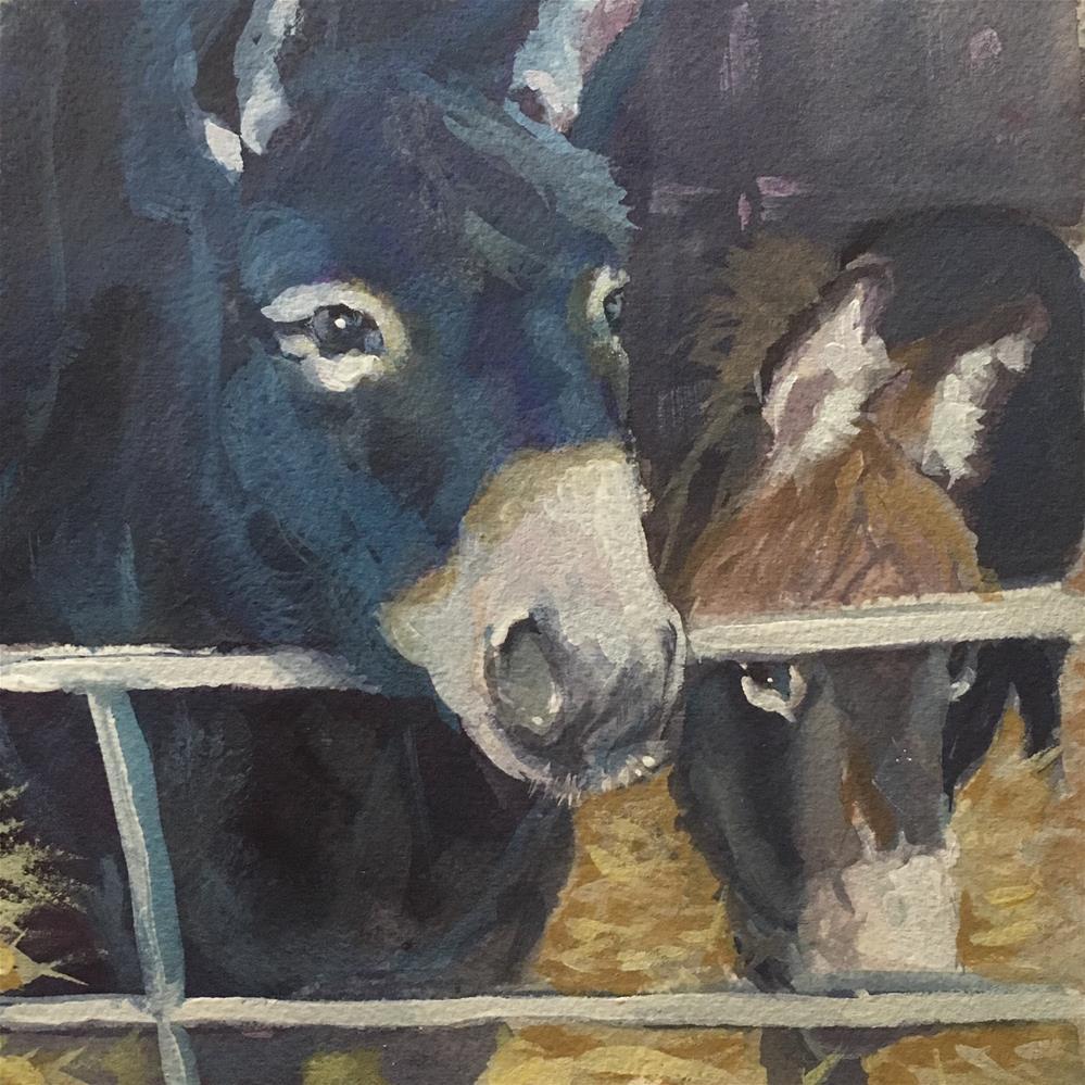 """""""Buddies"""" original fine art by Sheila Wedegis"""