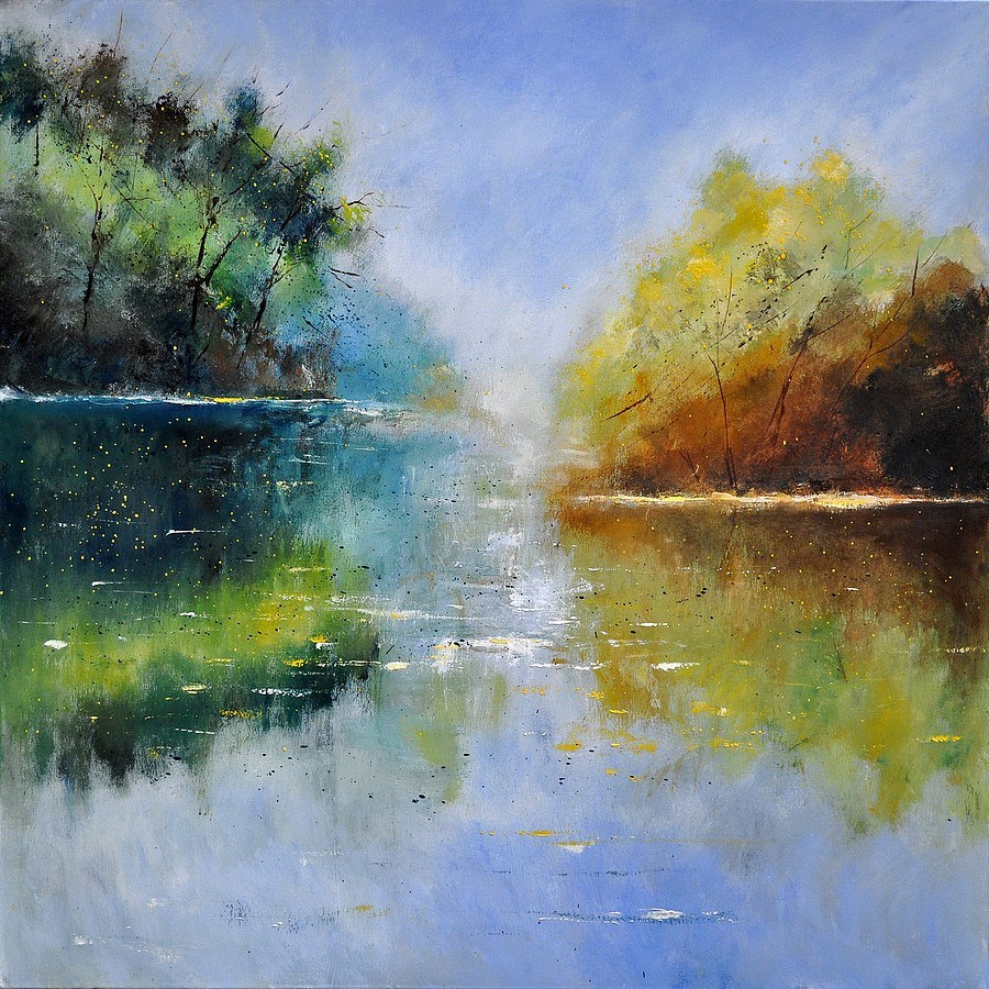 """pond 882121"" original fine art by Pol Ledent"