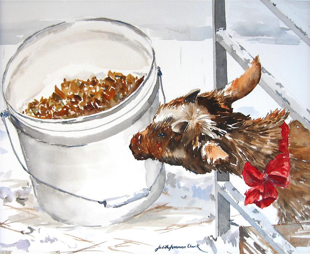 """Holiday Dinner"" original fine art by Judith Freeman Clark"