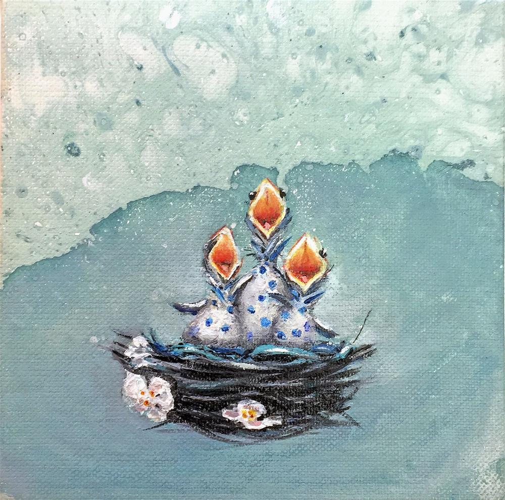 """""""Companion piece for Patsy!"""" original fine art by Sunny Avocado"""