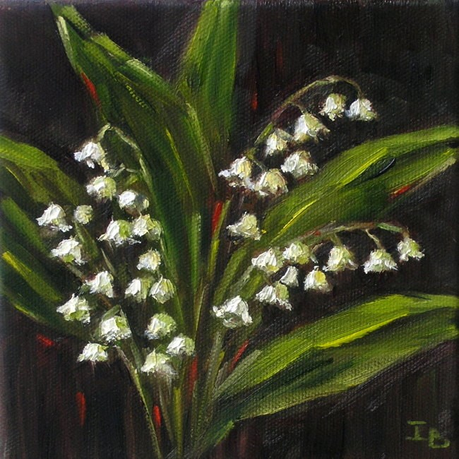 """Lily of the Valley"" original fine art by Irina Beskina"