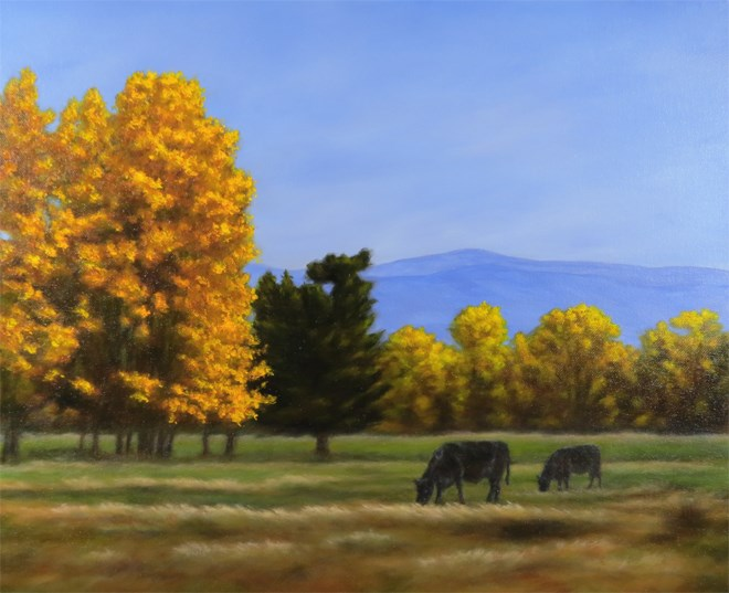 """Grazing in the Gold"" original fine art by Carol Zirkle"