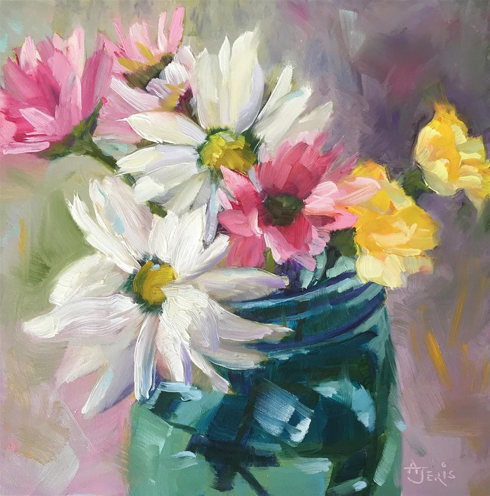 """Daisies and Friends"" original fine art by Andrea Jeris"