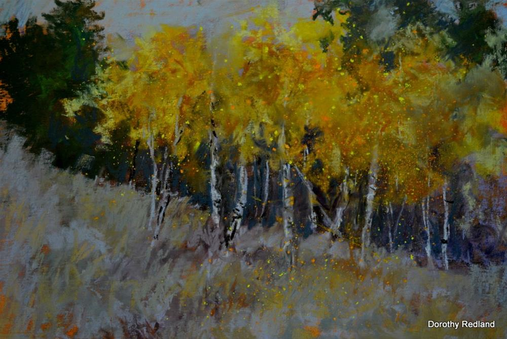 """Falling leaves"" original fine art by Dorothy Redland"
