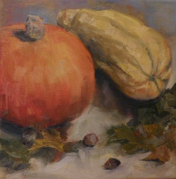 """Fall Study"" original fine art by Lori L. Lamb"