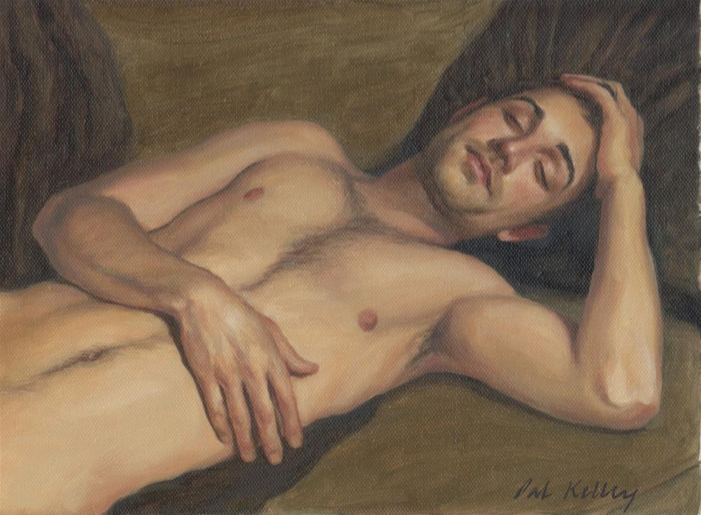 """Reclining Male Nude"" original fine art by Pat Kelley"