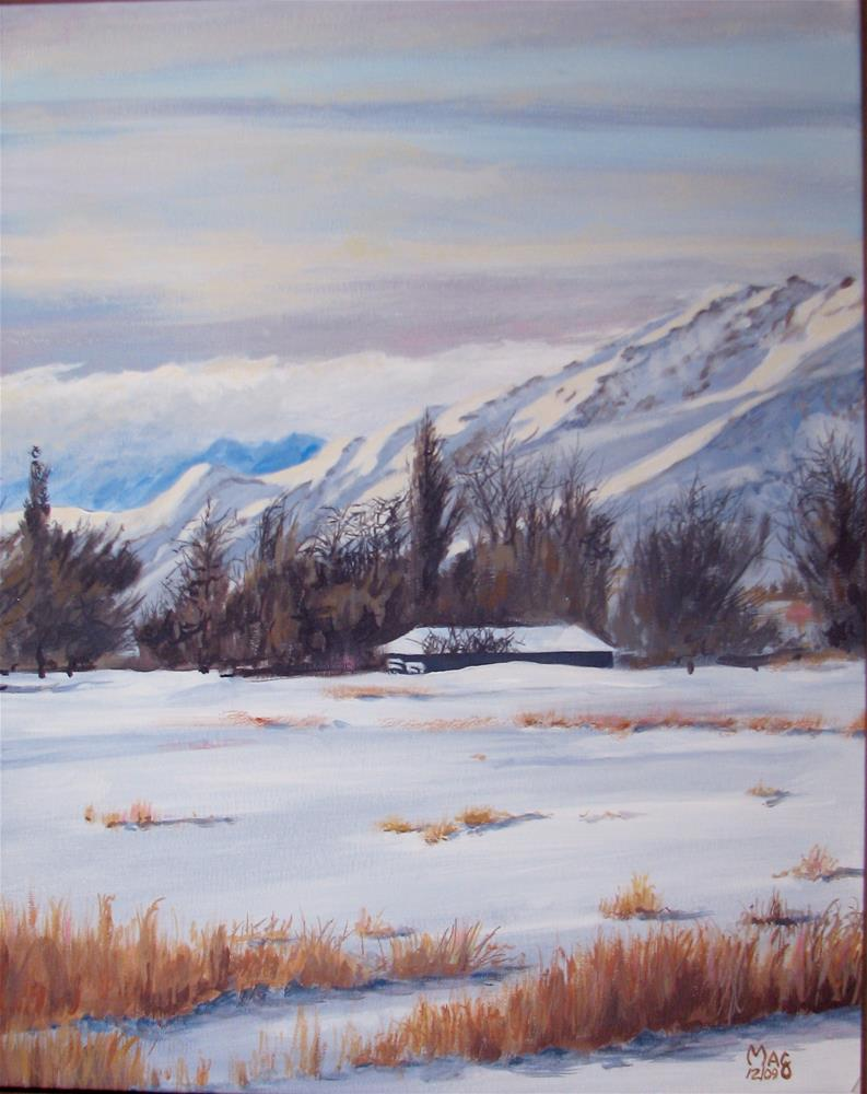 """Winter in Mason Valley"" original fine art by John F McGowan"