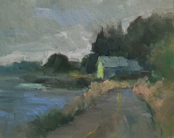 """Netarts Blues and Greys"" original fine art by Patti McNutt"