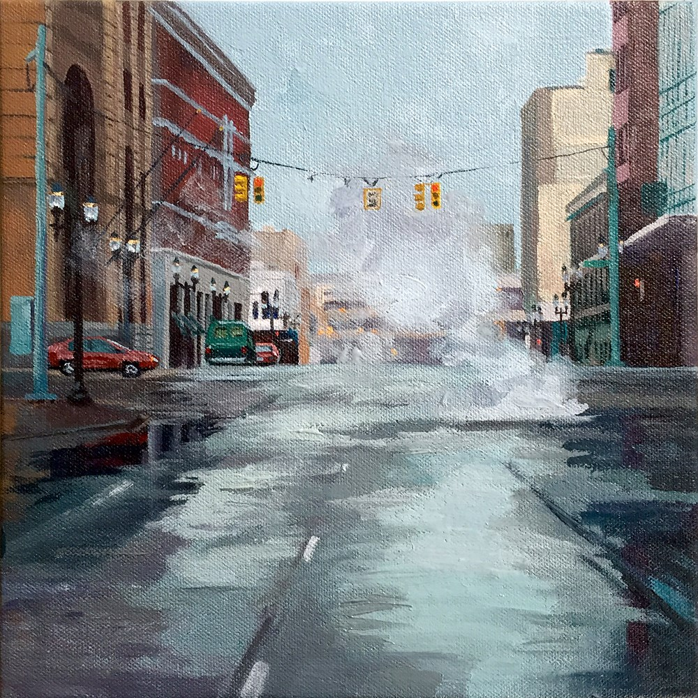 """Crossing Capitol Ave."" original fine art by Andrea Jeris"