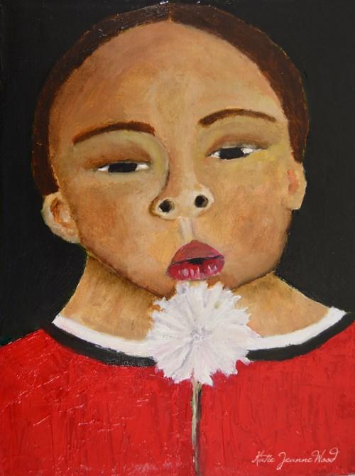 """""""Little Dude No 4"""" original fine art by Katie Jeanne Wood"""