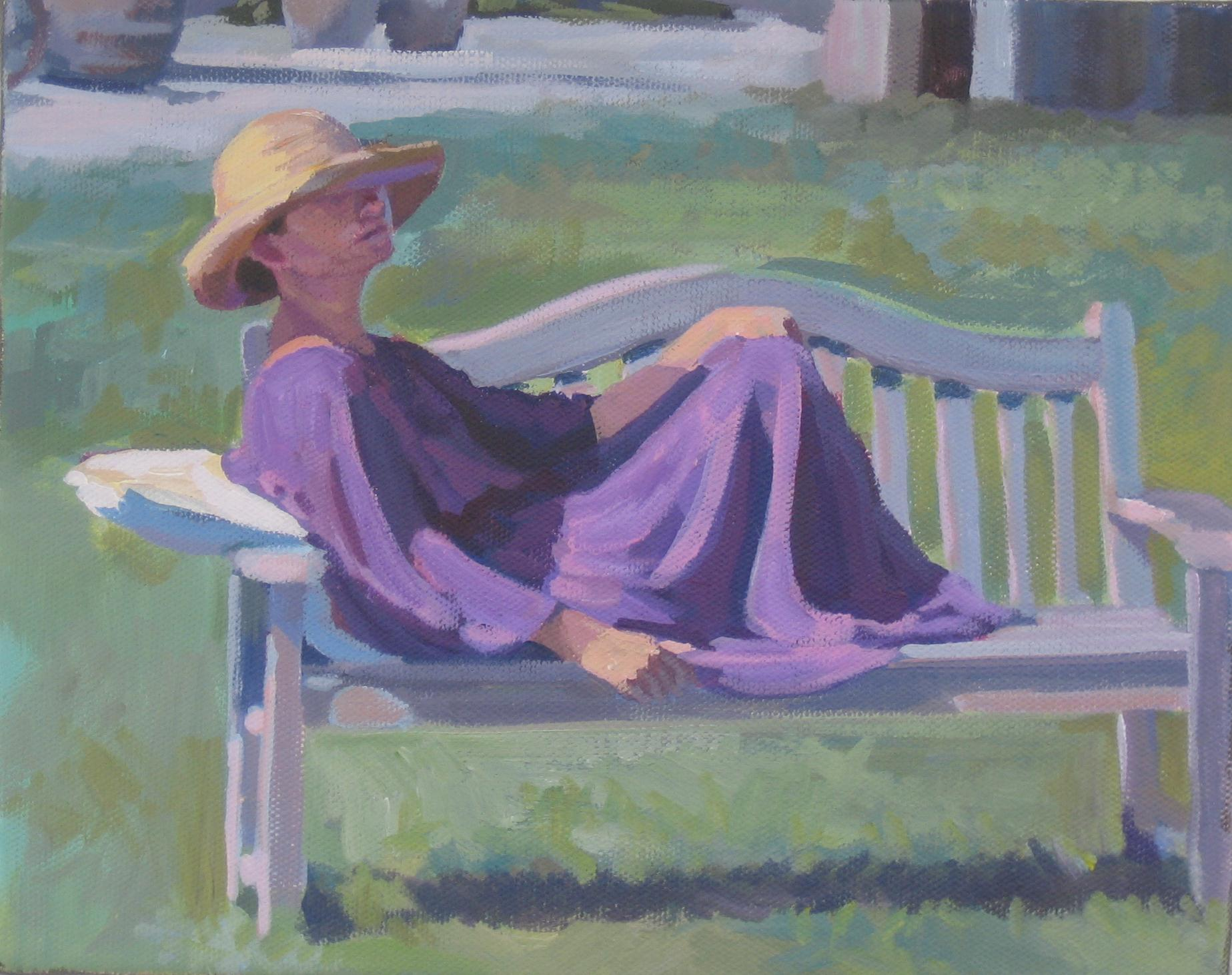 """Garden Pose"" original fine art by Kaethe Bealer"