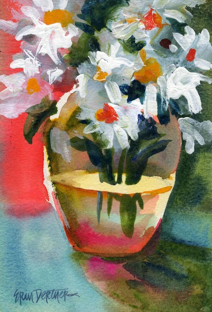 """""""Dazzling Daisies"""" original fine art by Erin Dertner"""