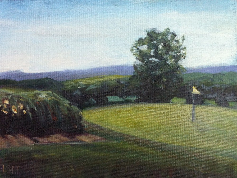 """Grassy Hill Country Club #4"" original fine art by Linda Marino"