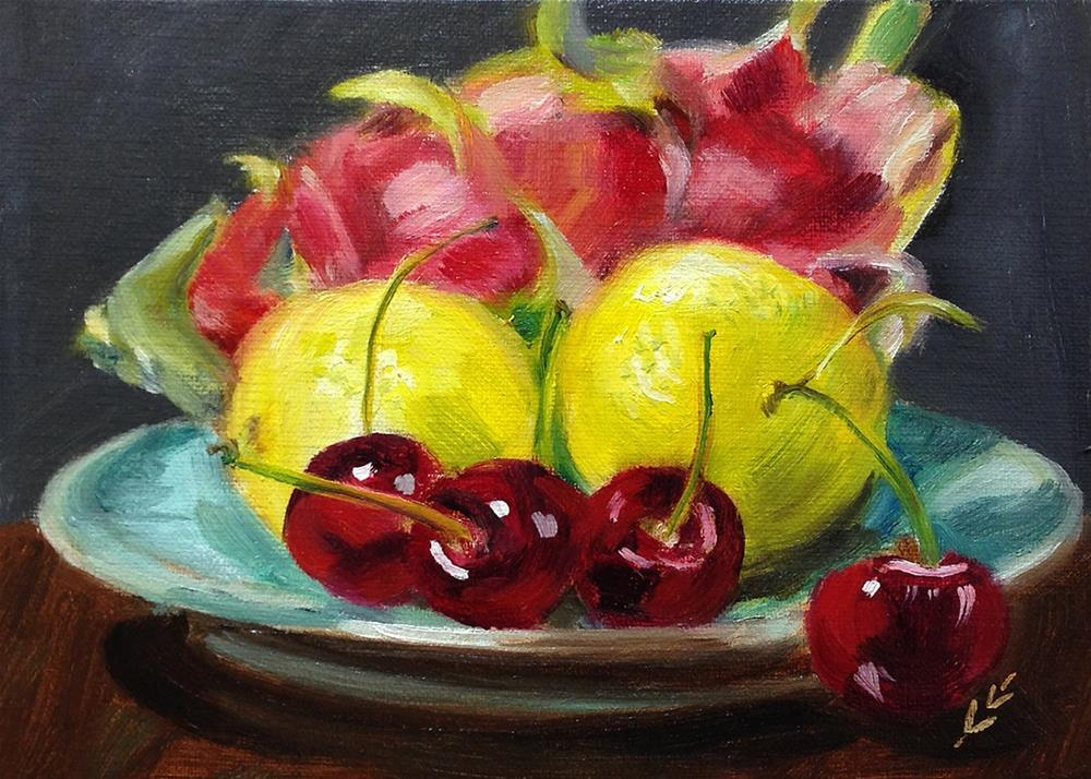 """Dragon Fruit"" original fine art by Linda Lowery"