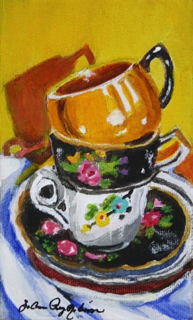 """T. Cups"" original fine art by JoAnne Perez Robinson"