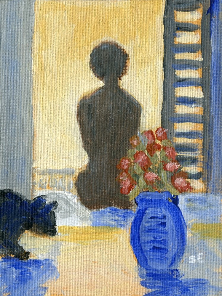 """Introspection"" original fine art by Stanley Epperson"