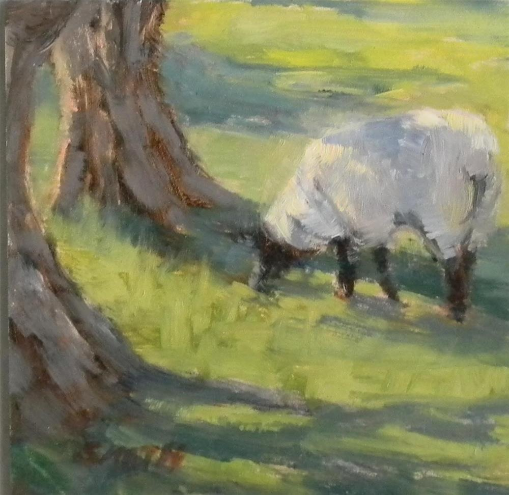 """Grazing in the Shade"" original fine art by Barbie Smith"