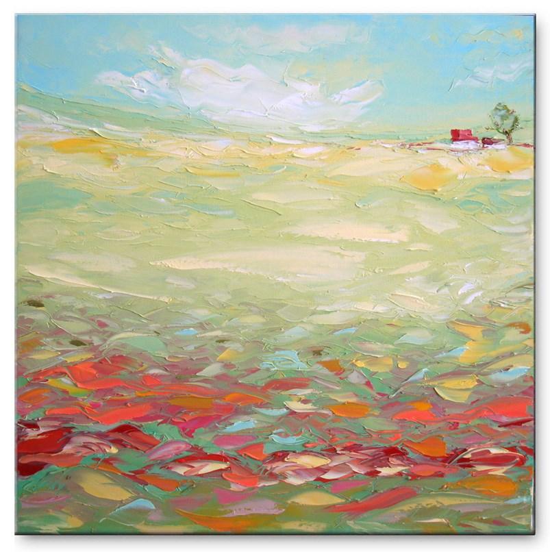 """Green valley"" original fine art by Elena Lunetskaya"