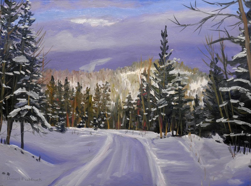 """Winter Splendor"" original fine art by Daniel Fishback"