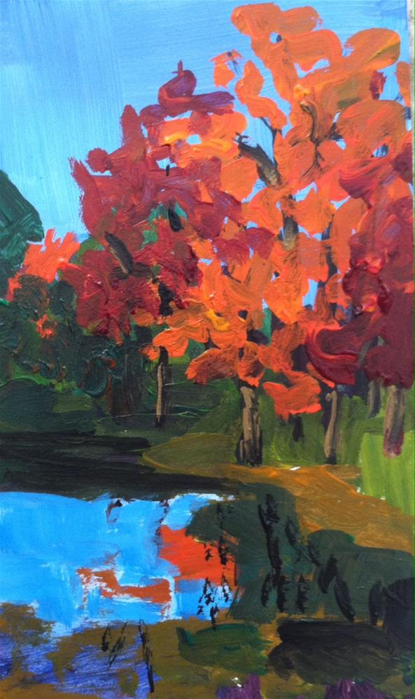 """Fall Landscape small format"" original fine art by Christine Parker"