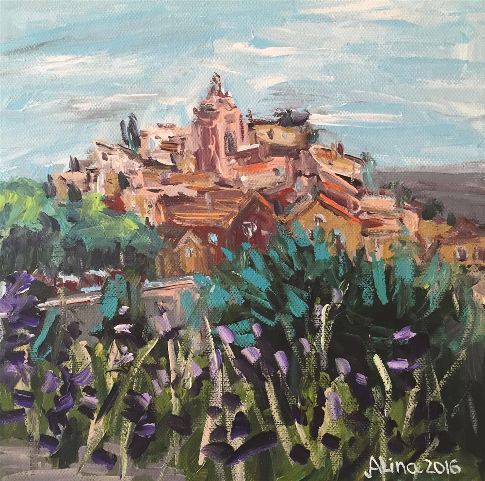 """Roussillon"" original fine art by Alina Vidulescu"