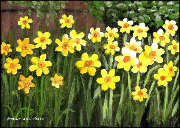 """A Splash of Spring"" original fine art by Patricia Ann Rizzo"