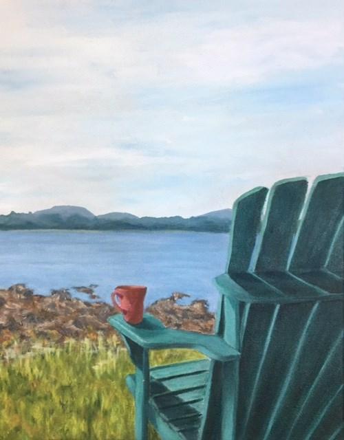 """Morning Coffee"" original fine art by Karen Collins"