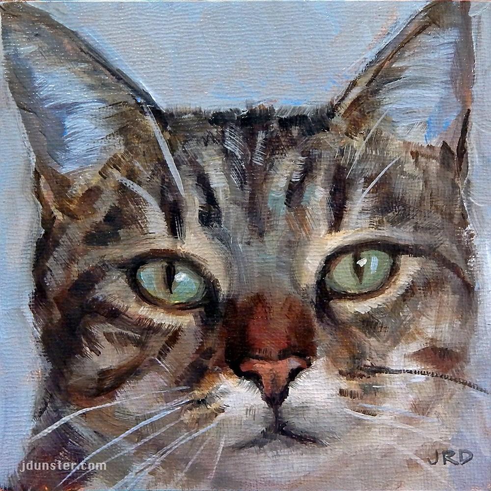"""Pretty Kitty"" original fine art by J. Dunster"