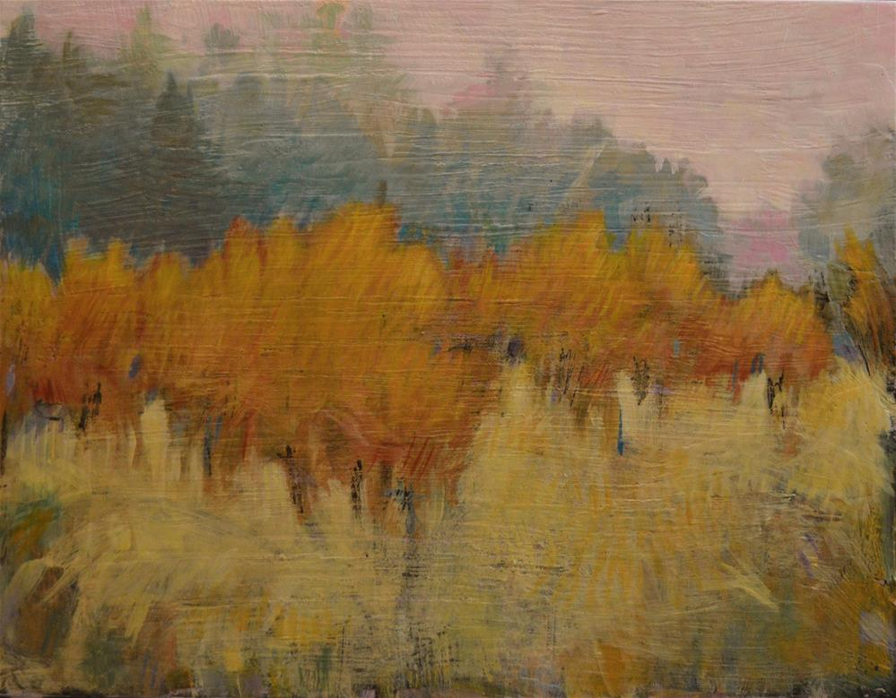 """October Orchard"" original fine art by Kristina Davidson"
