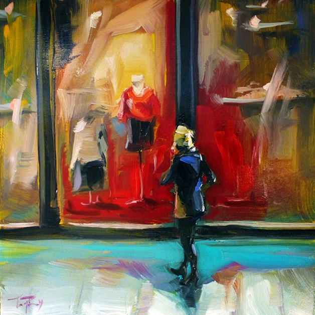 """Shopping"" original fine art by Jurij Frey"