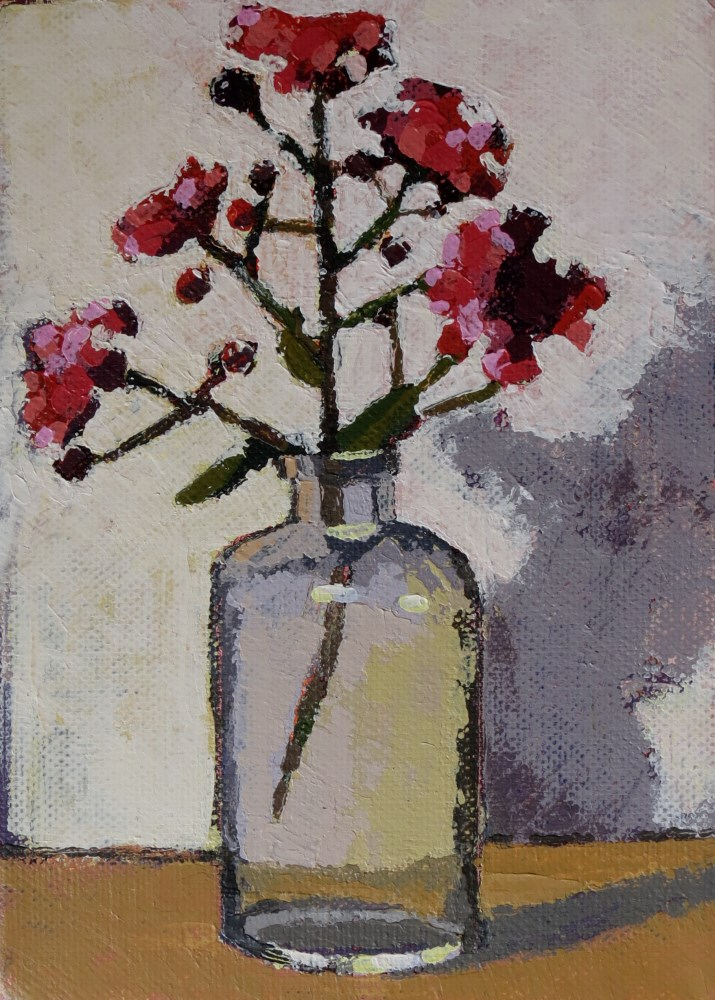 """Crepe Myrtle"" original fine art by Joan Wiberg"