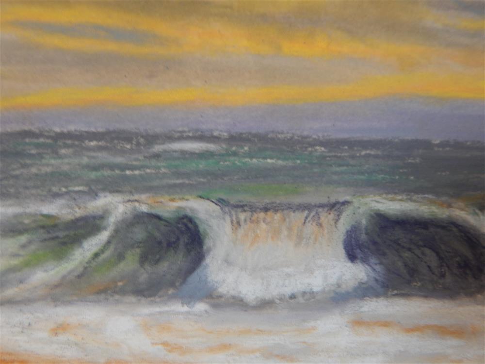 """Dawn Wave"" original fine art by Elaine Shortall"