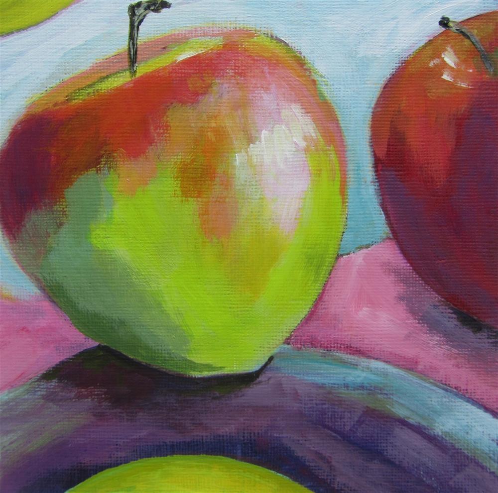 """Apple a Day #8"" original fine art by Patricia MacDonald"