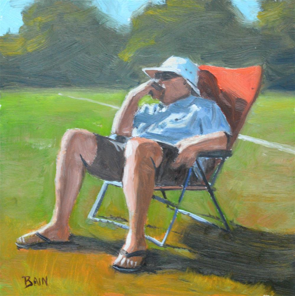 """Soccer Dad"" original fine art by Peter Bain"