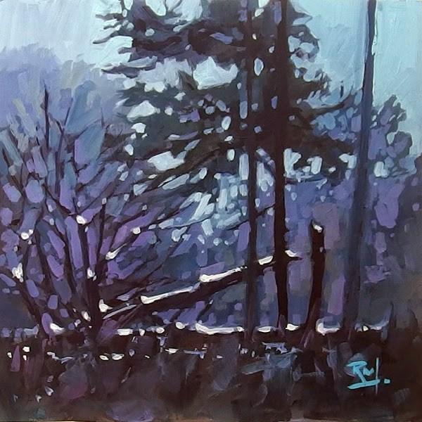 """No 756 Last Light"" original fine art by Robin J Mitchell"
