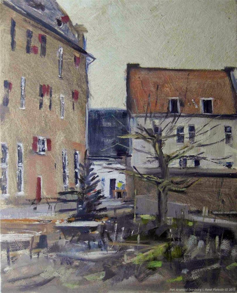 """Het Arsenaal Doesburg The Netherlands"" original fine art by René PleinAir"