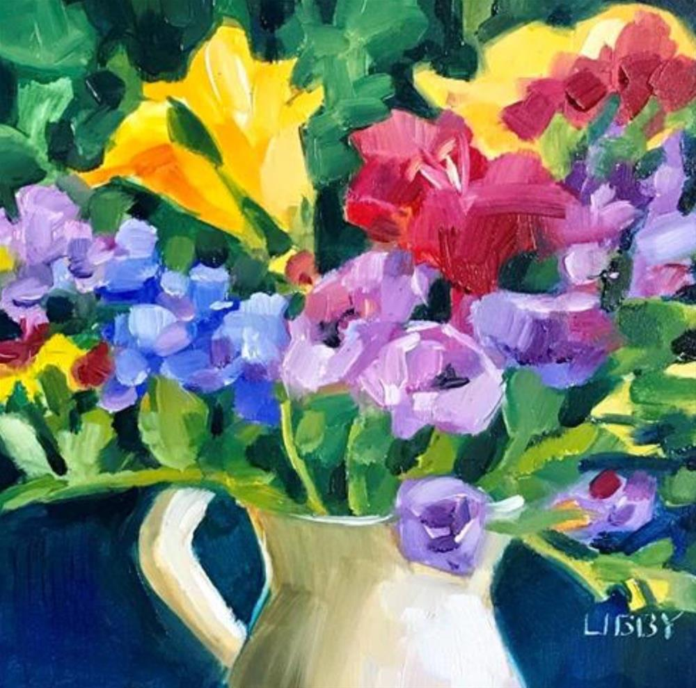 """Freesia"" original fine art by Libby Anderson"