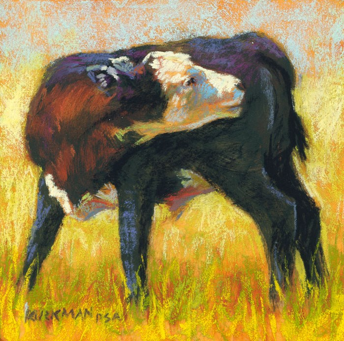 """Calf Stretch 2"" original fine art by Rita Kirkman"