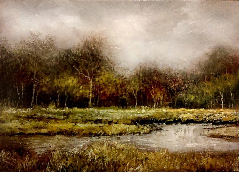 """Treetop Fog"" original fine art by Bob Kimball"