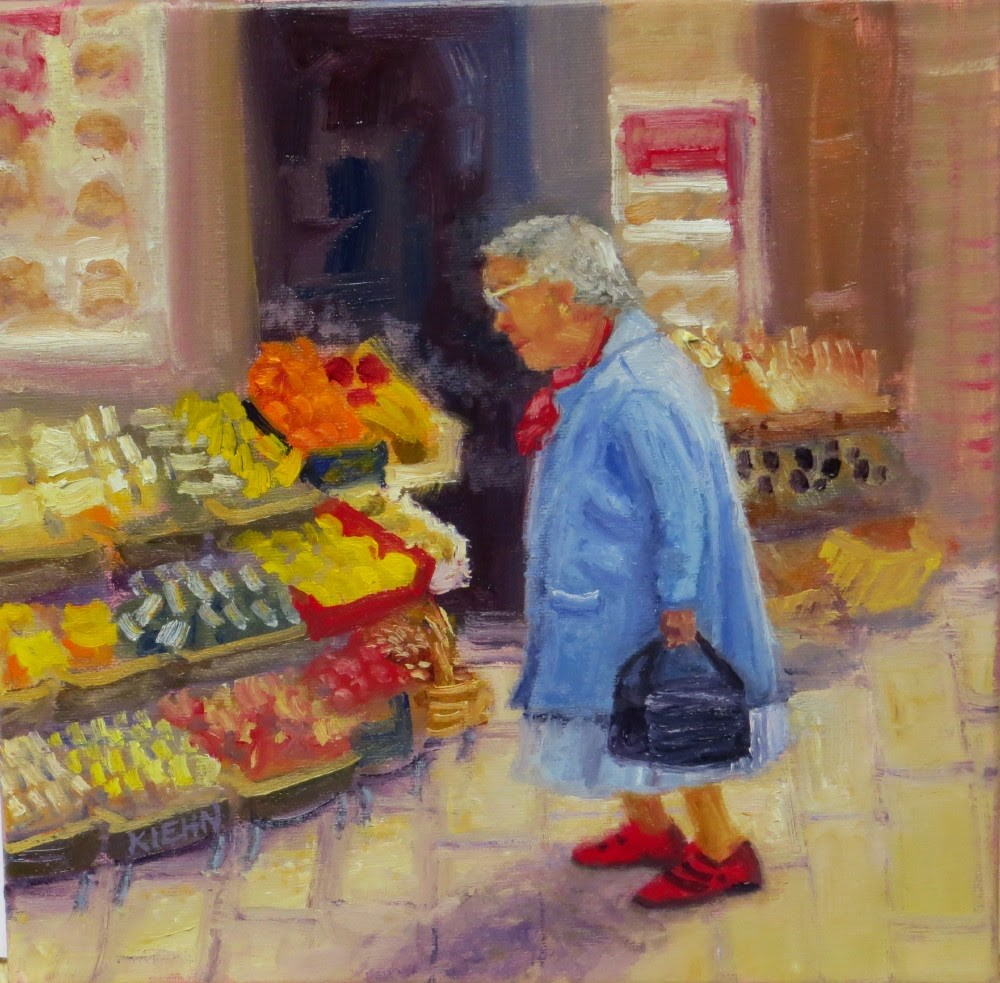 """Daily Fare"" original fine art by Richard Kiehn"